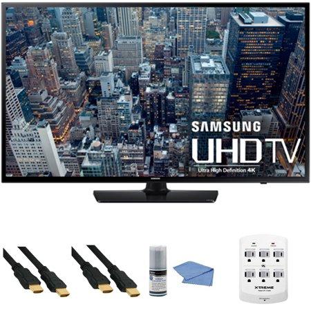 Samsung UN65JU6400 – 65-Inch 4K Ultra HD Smart LED HDTV + Hookup Kit