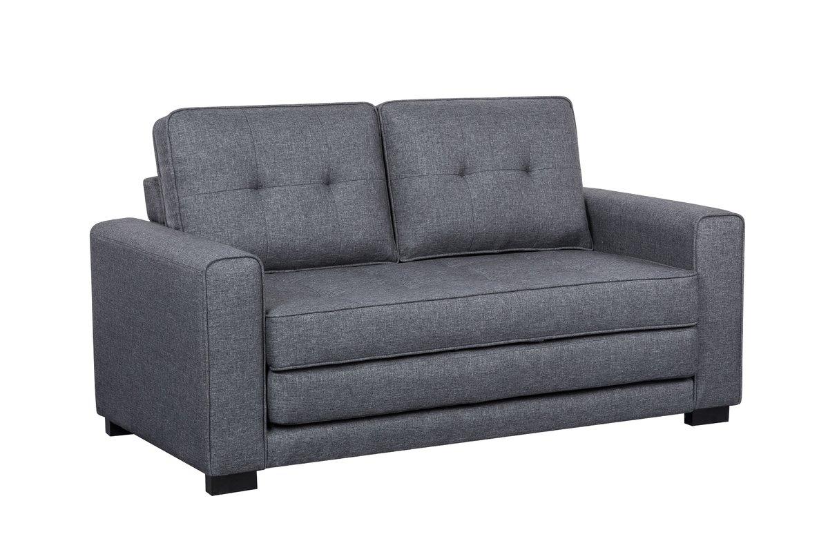 Picture of: Us Pride Furniture Franco Convertible Sleeper Loveseat Dark Gray Walmart Com Walmart Com