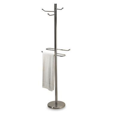 Chrome Robe & Towel Valet (Bath Wall Valet)