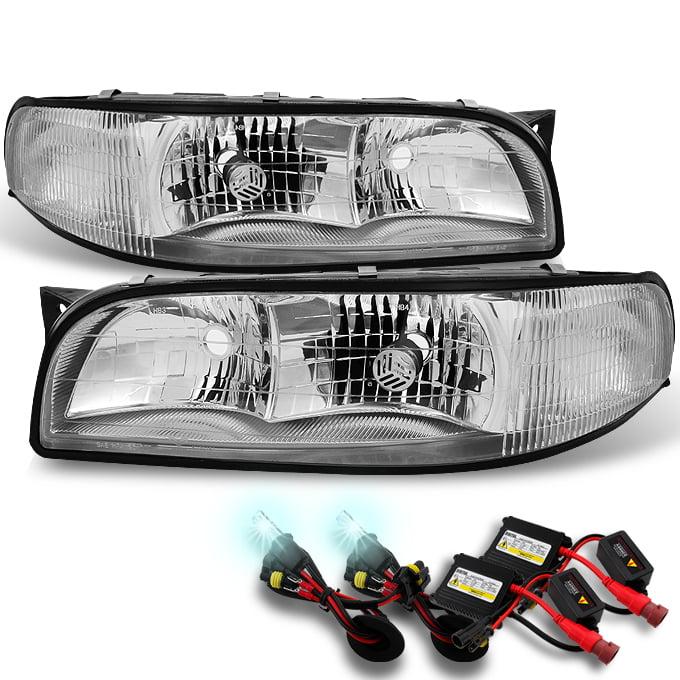 Fit 97-99 LeSabre Clear Headlights w/ Corner Signal Lamps + Ballast 8K HID