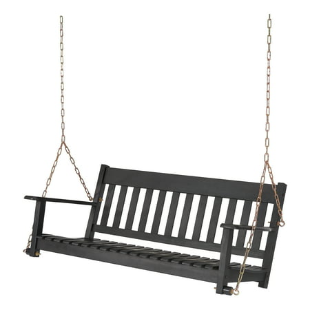 Better Homes & Gardens Delahey Hanging Wood Porch Swing Minutes To A Better Swing