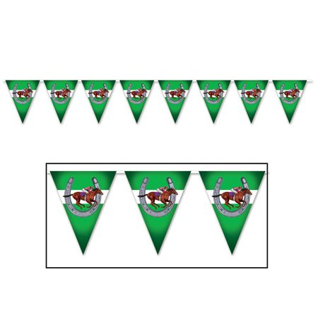 The Party Aisle Horse Racing Pennant Banner (Horse Racing Banner)