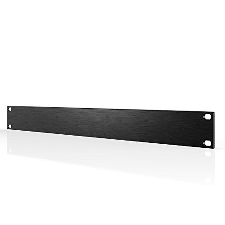 """AC Infinity Rack Panel Accessory Blank 1U Space for 19"""" Rackmount, Premium Aluminum Build and Anodized Finish"""