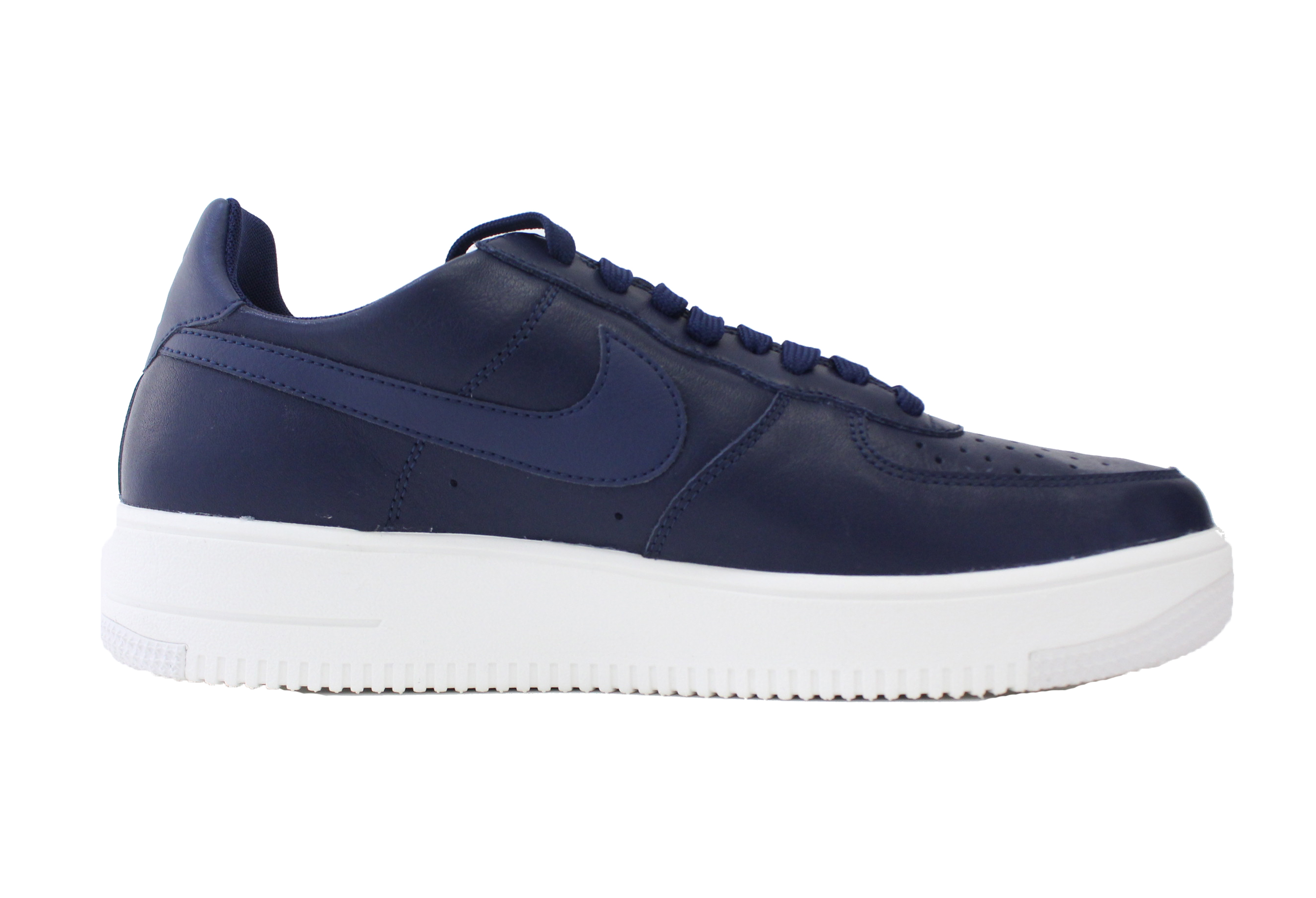 NIKE AIR FORCE 1 ULTRAFORCE LEATHER SZ 13 MIDNIGHT NAVY WHITE LTHR 845052 403