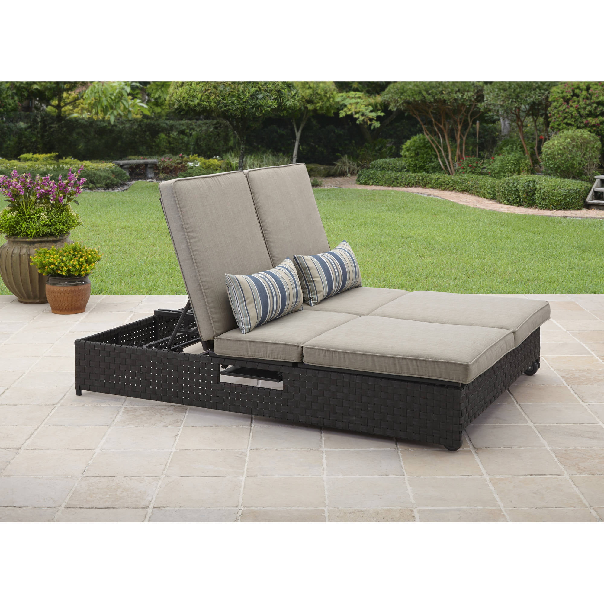 lounge in oceanic chaise cushion outdoor double furniture cushions sunbrella teak fabric sale