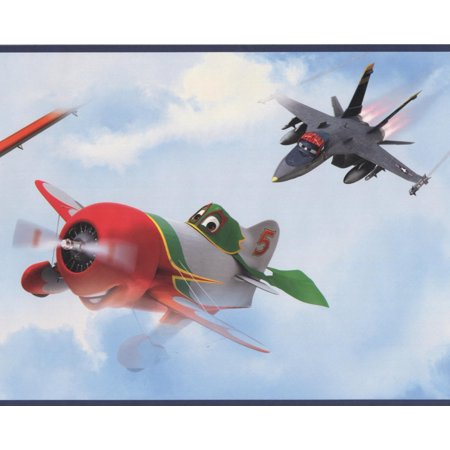 Disney Planes in the Sky Clouds Kids Wallpaper Border Retro Design, Roll 15' x - Halloween Wallpaper Disney