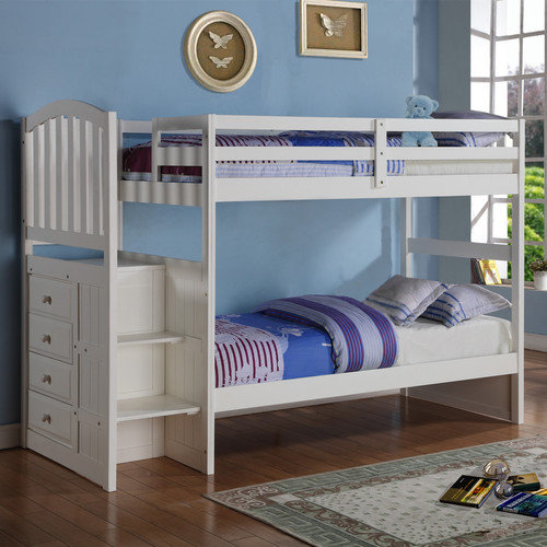 Pivot Direct PD_840W_T Donco Kids Arch Mission Stairway Bunkbed