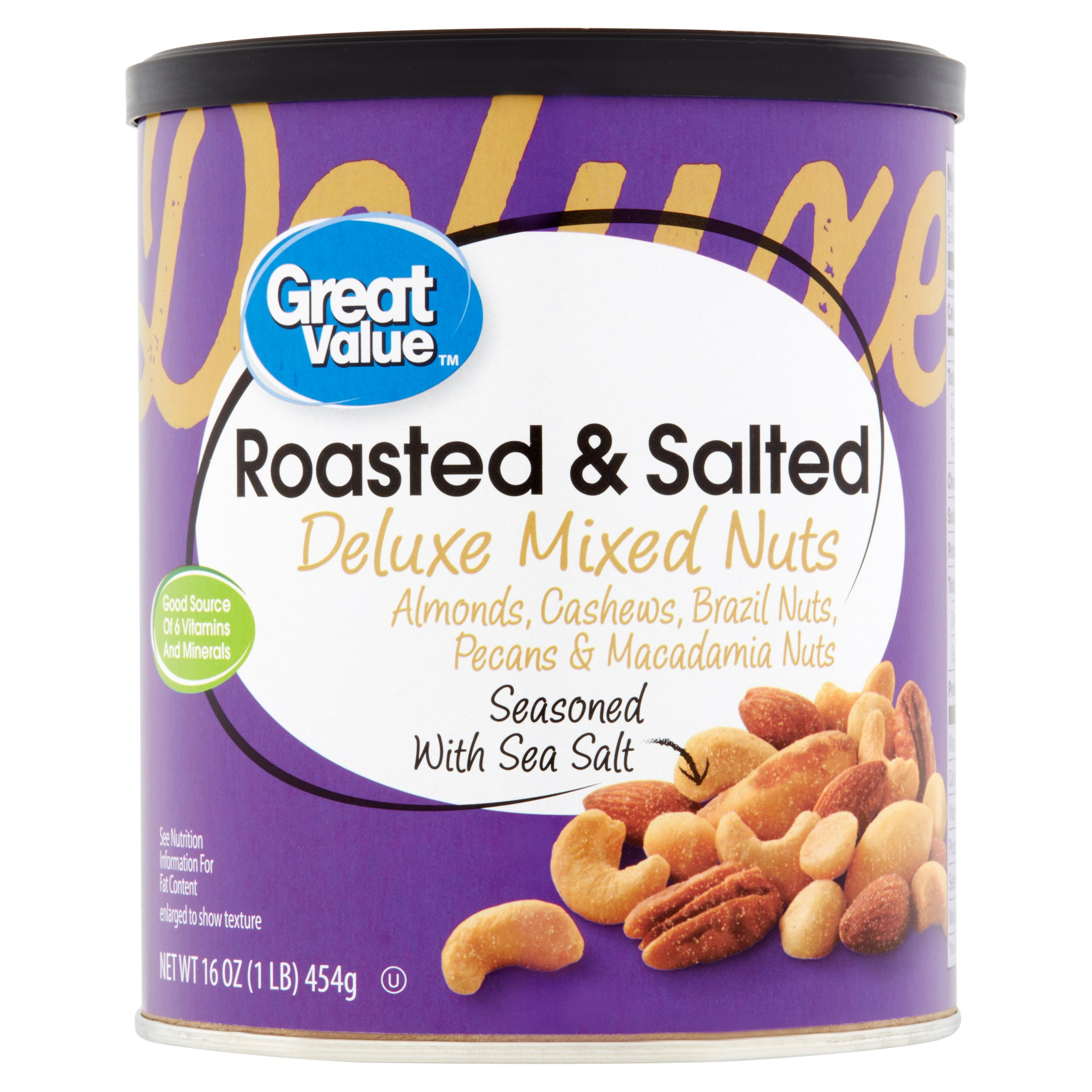 Great Value Deluxe Mixed Nuts, 16 oz by Wal-Mart Stores, Inc.