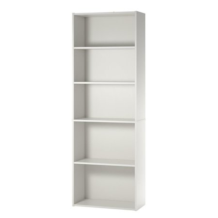 Ameriwood Basics Collection Tally 5 Shelf Bookcase in White