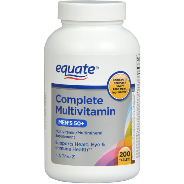 Equate Complete Ultra Men's Health Age 50+ Multivitamin/Multimineral, 200ct