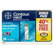 Contour Next Blood Glucose Test Strips, 35 Ct