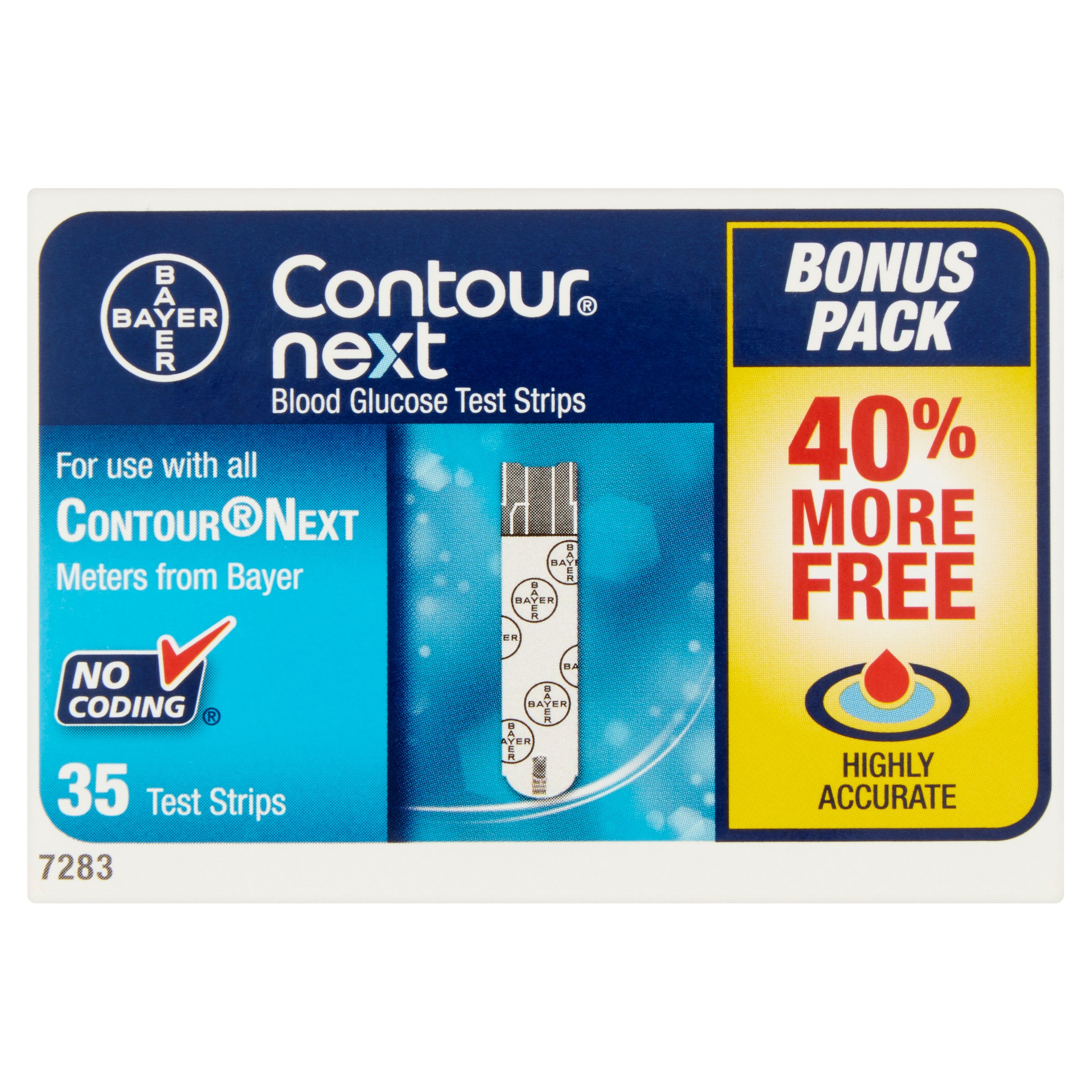 Contour Next Blood Glucose Test Strips, 35 Ct