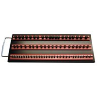 "VIM Tools MRTRAY14R Magrail TL Socket Tray, with 3- 14"" Red Magrails"