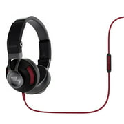 JBL Synchros S300 Premium On-Ear Stereo Headphones with Apple 3-Button Remote, Black/Red S300i