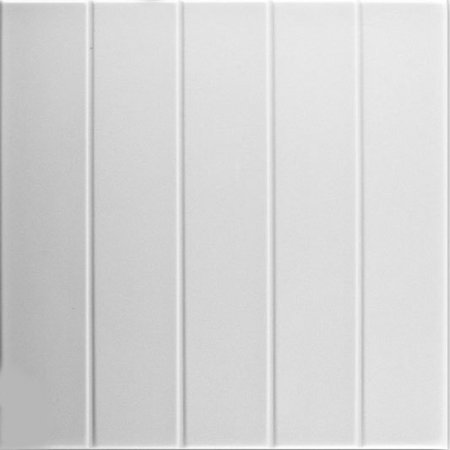 1 Inch Sq Tiles (Bead Board 1.6 ft. x 1.6 ft. Foam Glue-up Ceiling Tile in Plain White (21.6 sq. ft./Case) )