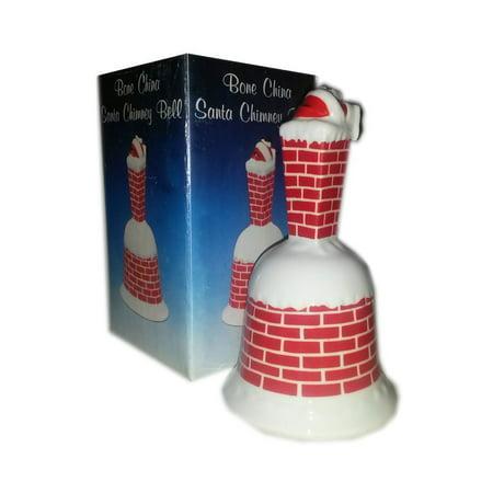 Bone China Santa Chimney Bell](Santa Chimney)