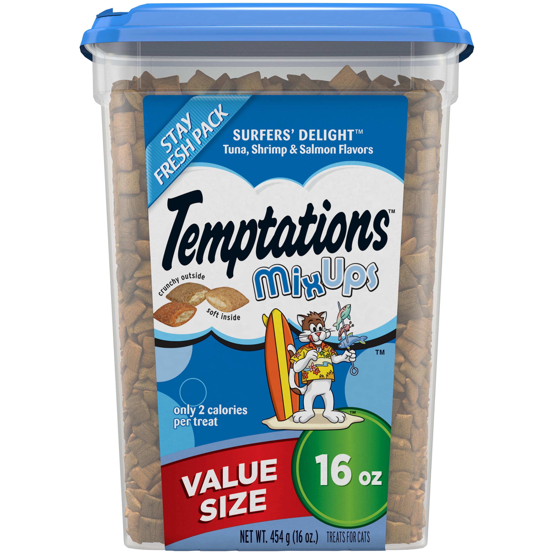 Temptations Mixups Treats For Cats Surfer\'S Delight Flavor, 16 Oz. Tub