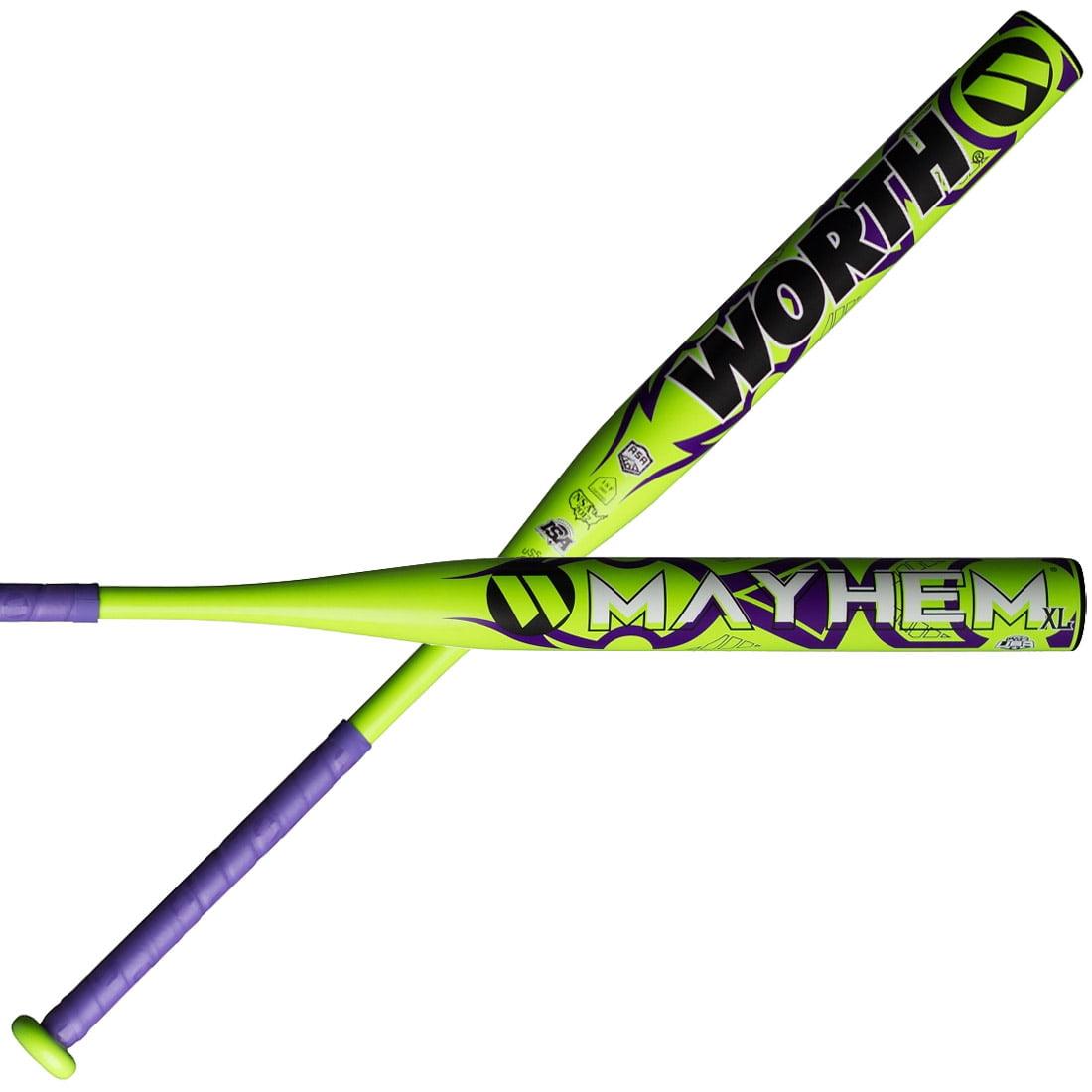Worth Mayhem XL All Association WHEMMU Slowpitch Softball Bat - 34/27