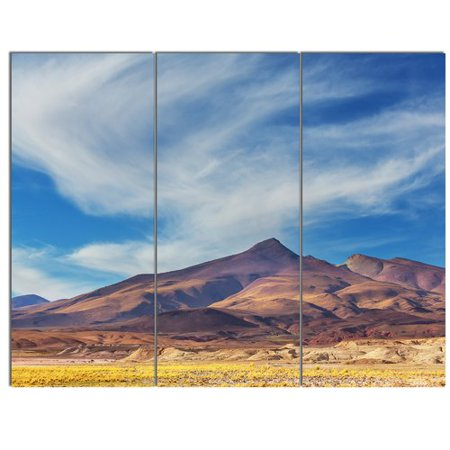 Design Art Bright Argentina Mountain Region 3 Piece Photographic Print On Wrapped Canvas Set