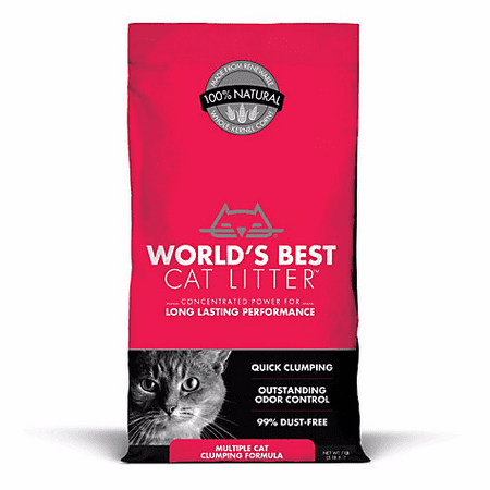 World's Best Cat Litter WB00626 Natural Multiple Cat Litter Clumping Formula, 7 lb, Bag