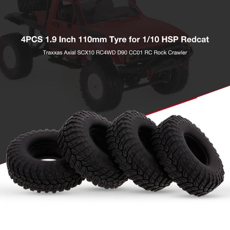 4PCS 1 9 Inch 110mm Tyre for 1/10 HSP Redcat Traxxas Axial SCX10 D90 CC01  RC Rock Crawler | Walmart Canada