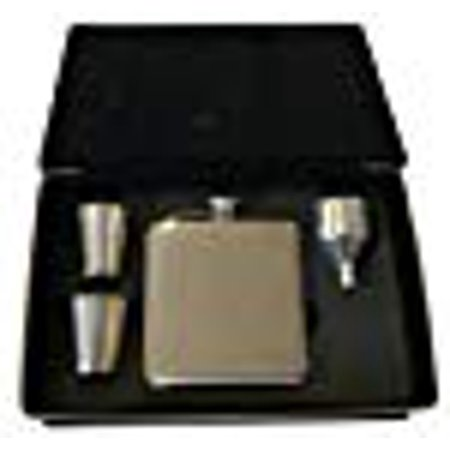 - Rock Ridge Flask Set | Comes in Presentation Box - Choose Your Style (Beige Leather, 1)