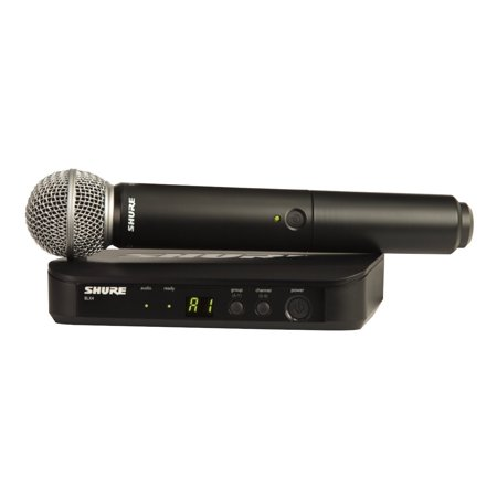 shure blx24/sm58-h10 wireless vocal system with sm58 handheld microphone, h10
