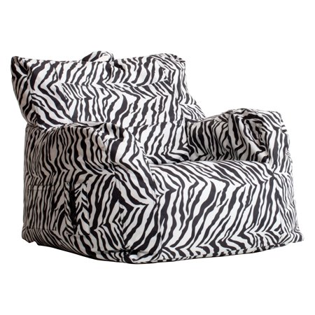 Big Joe Dorm Bean Bag Chair - Zebra