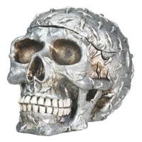 Diamond Plated Human Skeleton Skull Storage Container Halloween Decoration New