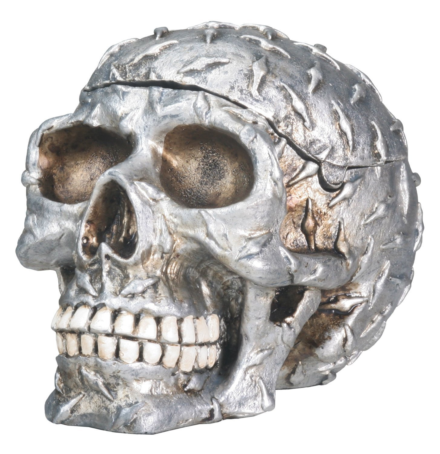 diamond plated human skeleton skull storage container halloween, Skeleton