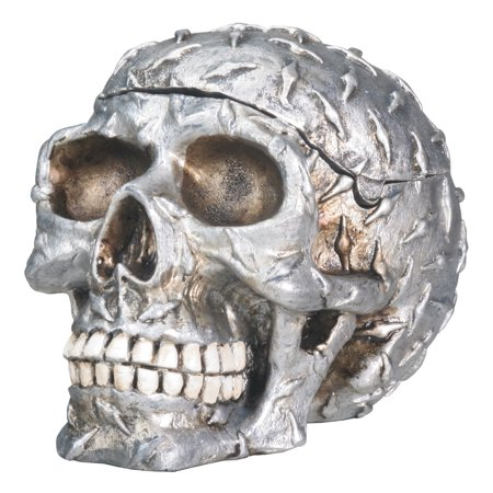 Diamond Plated Human Skeleton Skull Storage Container Halloween Decoration New - Halloween Decoration Stores