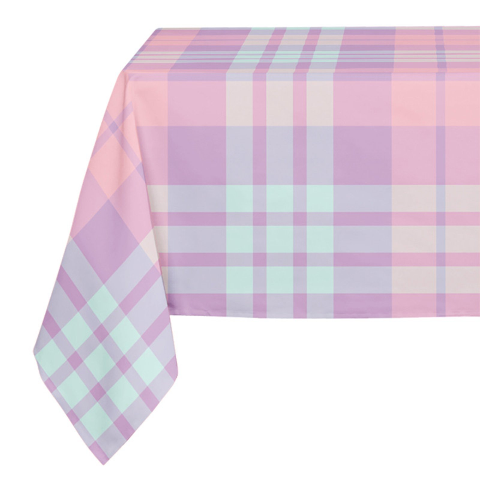 Superbe Kavka Designs Pink Pastel Plaid Tablecloth