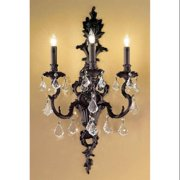 Majestic 3-Light Wall Sconce (Aged Bronze - Crystalique)