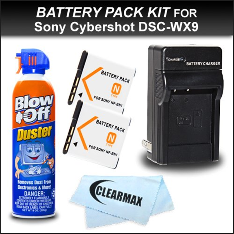 ClearMax 2 Pack Replacement Sony NP-BN1 Extended Recharge...