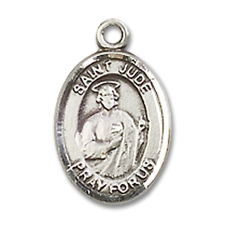 St  Jude Thaddeus Medal Pendant In Sterling Silver By Bliss Mfg  St  Jude Thaddeus Is Known As The Patron Saint Of Desperate Situations