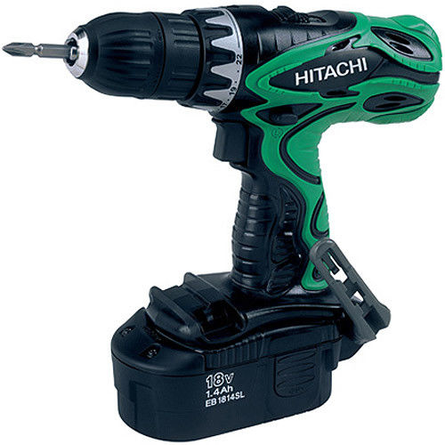 Factory-Reconditioned Hitachi DS18DVF3M 18V Cordless 1 2 in. Drill Driver Kit(Refurbished) by