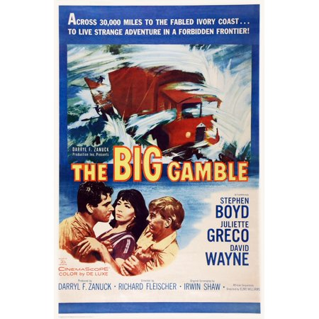 The Big Gamble Us Poster Art From Left Stephen Boyd Juliette Greco David Wayne 1961 Tm & Copyright  20Th Century Fox Film Corp All Rights ReservedCourtesy Everett Collection Movie Poster