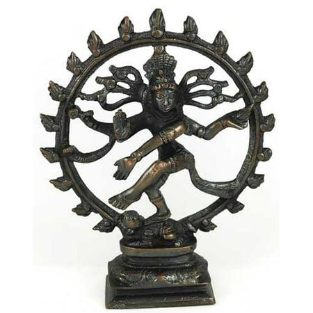 Large Antiqued Bronze Shiva Dancing Statue by Sage Cauldron (Large Cauldron)