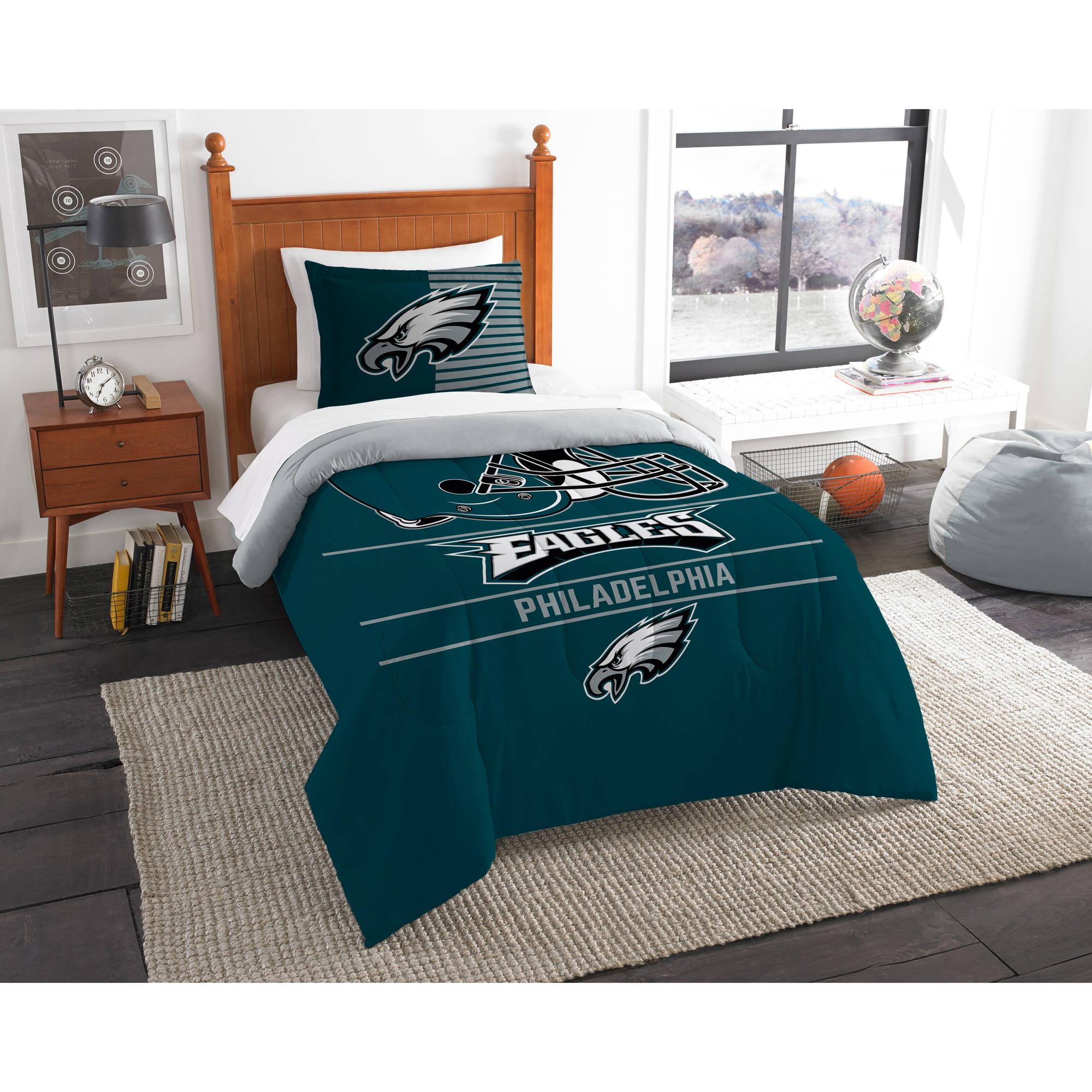 "NFL Philadelphia Eagles ""Draft"" Bedding Comforter Set"
