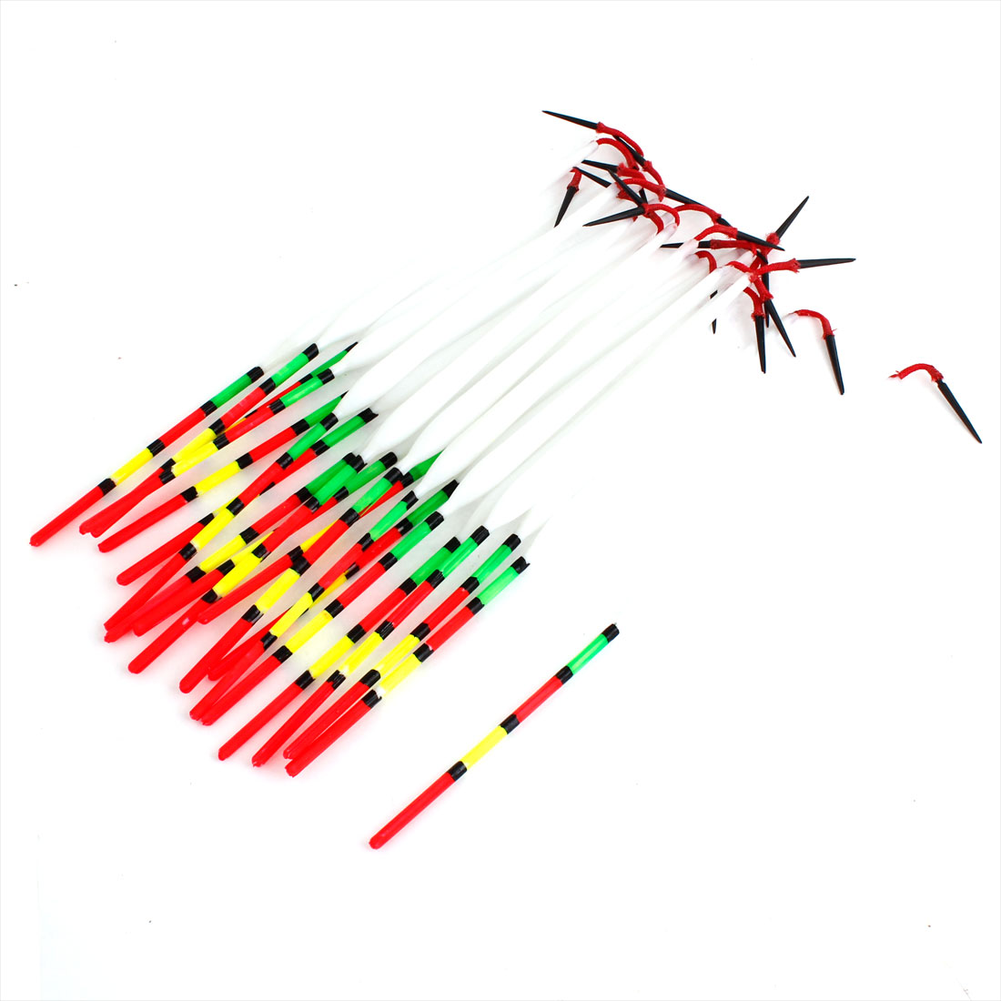 Unique Bargains 20 Pcs Drop Shape Fishing Floaters Bobbers 23.5cm Long by