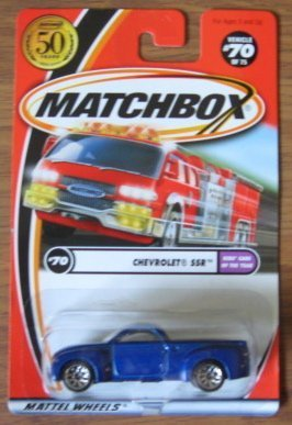 Matchbox Chevrolet SSR Truck Blue 70 75 2001 Kids' Cars of the Year by By Mattel by