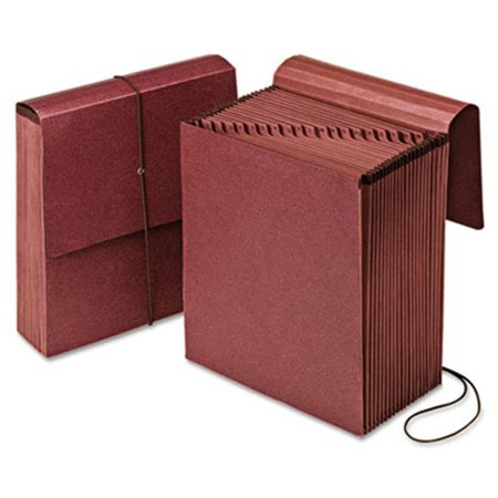Vertical Indexed Expanding Wallet  A-Z  21 Pockets  Red Fiber  Letter
