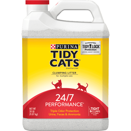 Purina Tidy Cats Clumping Cat Litter, 24/7 Performance Multi Cat Litter, 20 lb. Jug