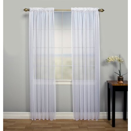 Ricardo Trading Lucerne Tailored Solid Sheer Rod Pocket Panel Pair (Set of 2) Sheer Tailored Panel