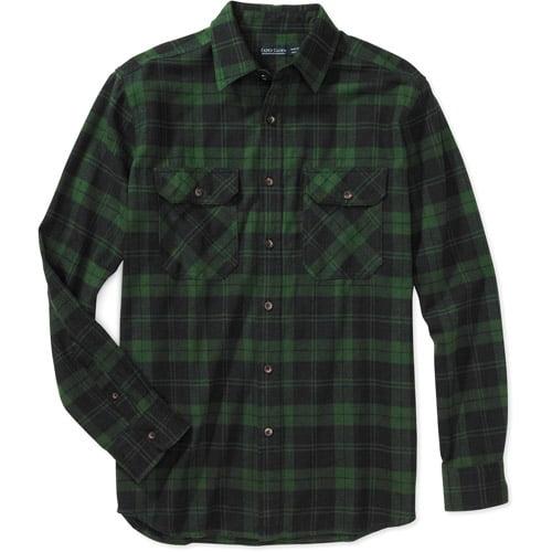 Mens Green Plaid Shirt