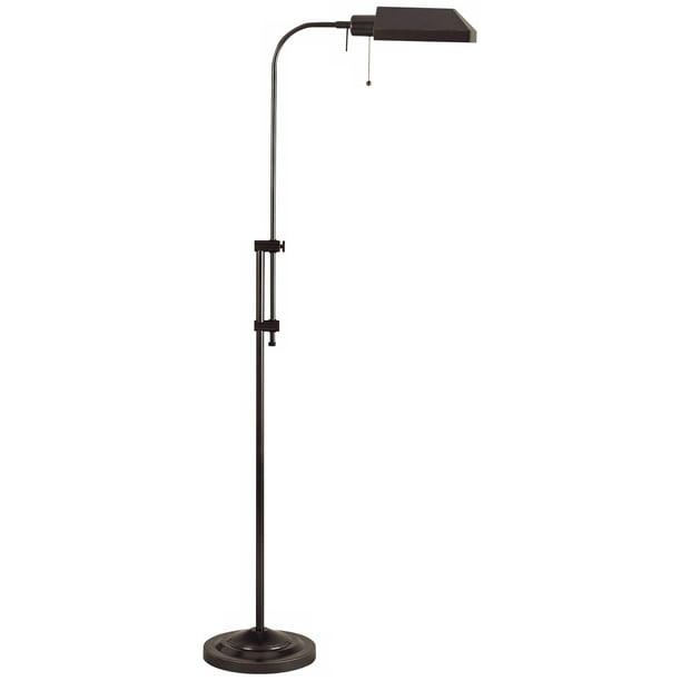 Cal Lighting Dark Bronze Adjustable, Antique Brass Metal Adjustable Pole Pharmacy Desk Lamp