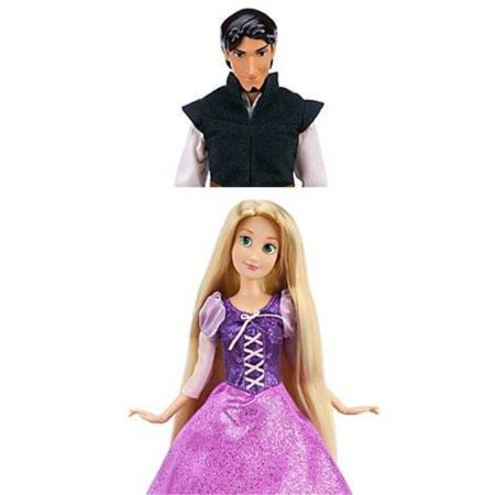 New Disney Store Tangled Rapunzel & Flynn Doll