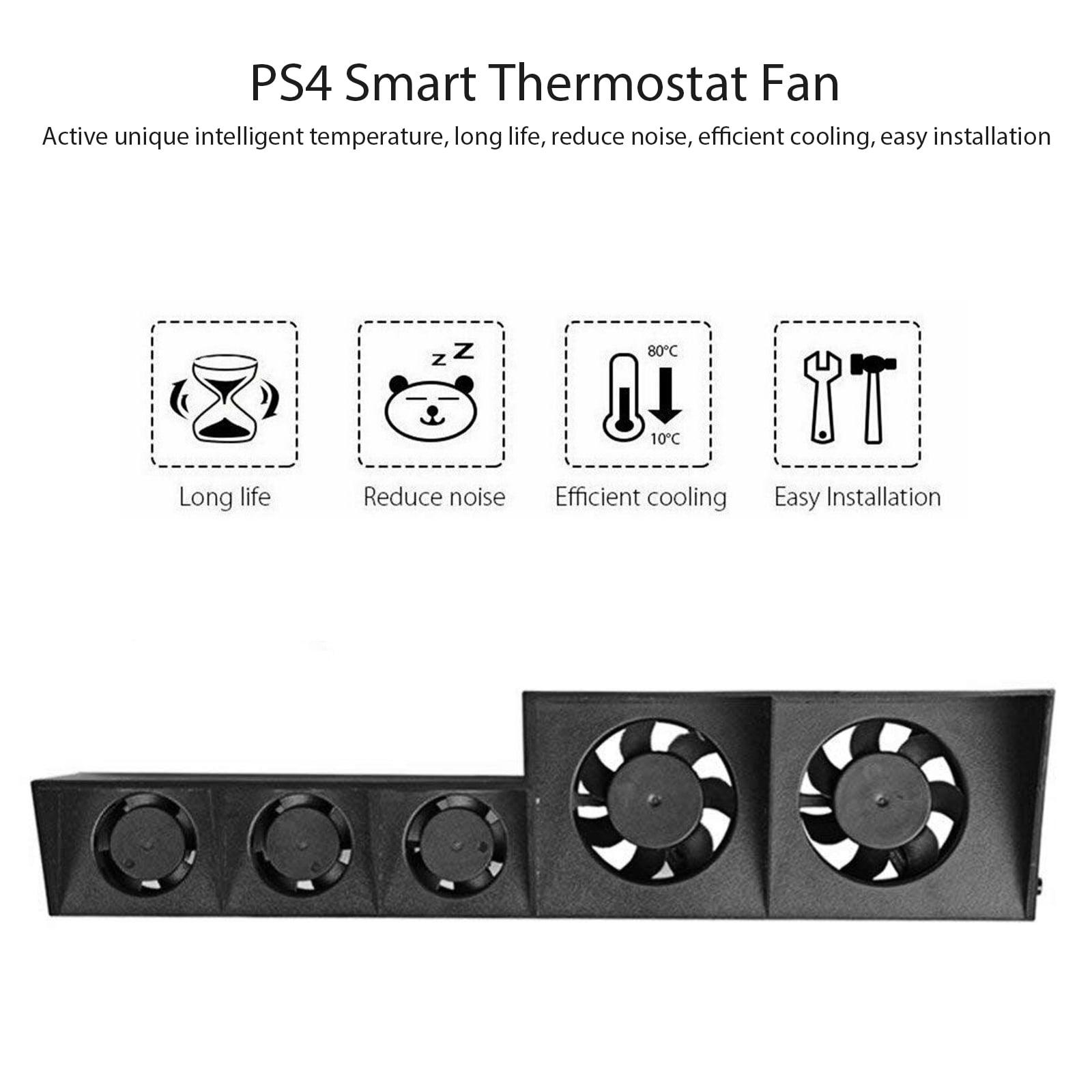 R&B USB External Turbo Temperature Control Cooling 5 Fan Cooler ...