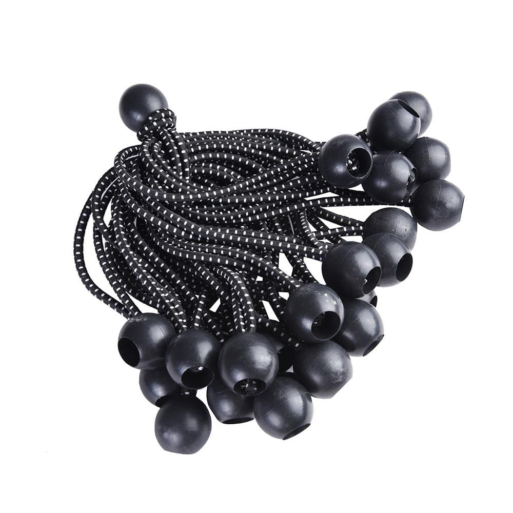 Yescom 25pcs 6'/8'/9' Elastic Ball Bungee Loop Cord Tie Down Strap