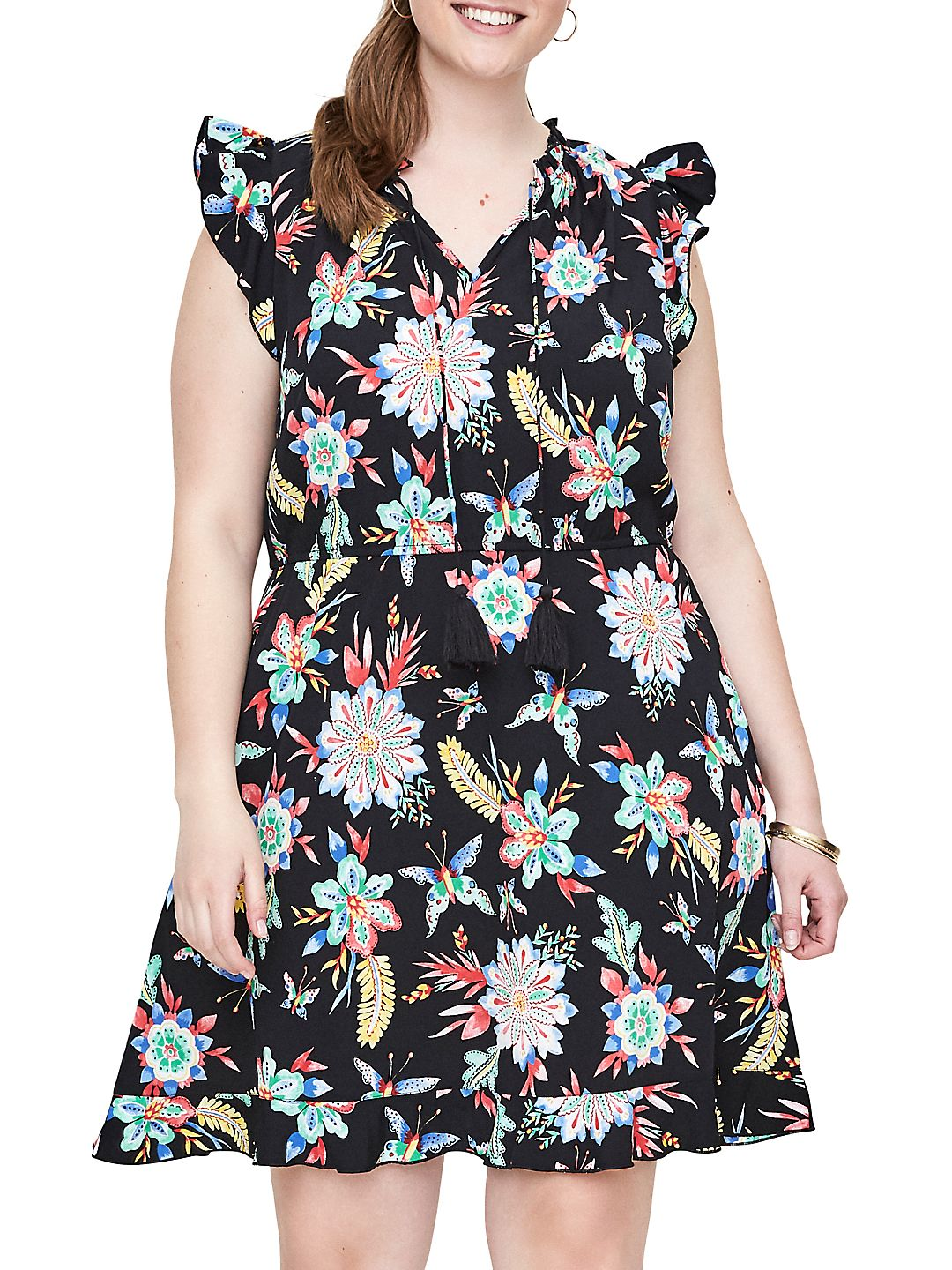 Plus Nazaria Sleeveless Short Dress